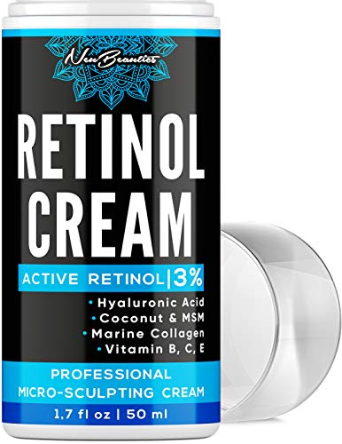 51cFXjvTcLL - Micro-Sculpting Anti-Aging Retinol Moisturizer - Made in USA - Facial Moisturizer with 3% Retinol, Hyaluronic Acid & Collagen - Anti-Wrinkle & Fine Line Reduction - Rich Wrinkle Cream for Face & Neck