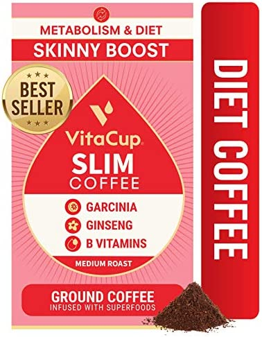 VitaCup Slim Ground Coffee for Skinny Diet Metabolism with Garcinia Ginseng and Vitamins B1 product image