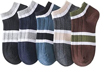 Men's Socks, Spring and Summer Thin Low-Top Boat Socks, 10 Pairs of Deodorant Sweat-Absorbent Casual Cotton Socks, Used for Fitness, Outdoor Sports