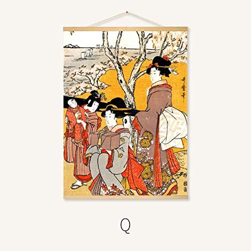 Hängende malerei Japanisches Restaurant wandmalerei rollbild 22-q 40 * 30