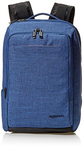 AmazonBasics Slim Carry On Laptop Travel Overnight Backpack - Blue