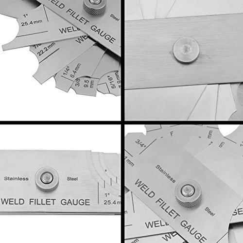 Stainless Steel Welding Gauge,Welding Gauge Gage Test Ulnar Welder Inspection Gauge Both Inch and Metric,Fillet Weld Gauge Photo #8