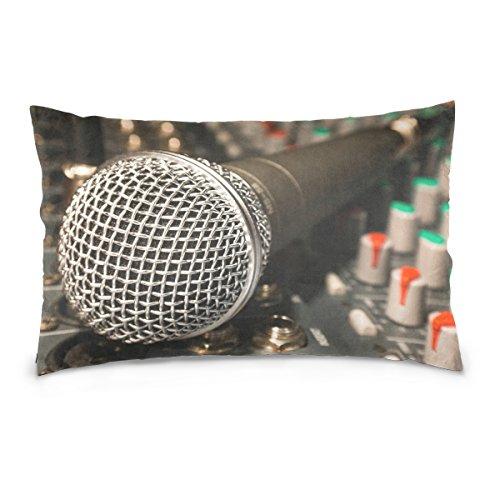 Josid Taie d'oreiller Double Face avec câble de Microphone Chantant 40,6 x 61 cm Fermeture Éclair Invisible Décoration de la Maison pour canapé-lit 20x26 inches Image 5318