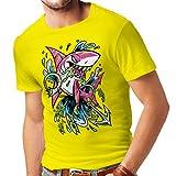 lepni.me N4340 Camiseta El Tiburon (X-Large Amarillo Multicolor)