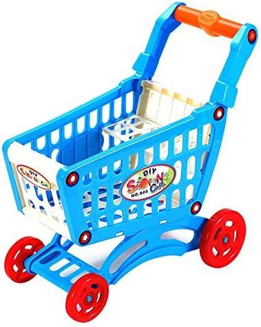 Simulate Supermarket Shopping Cart Pretend Play Toys Mini Plasti