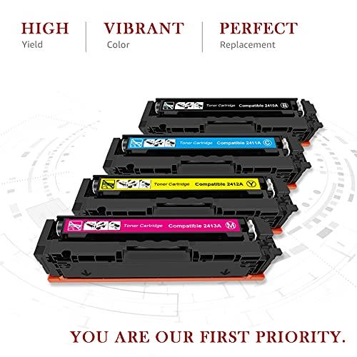 Toner Kingdom 216A (sin Chip) Reemplazo de Cartuchos de Toner compatibles para HP 216A W2410A W2411A W2412A W2413A para HP Color Laserjet Pro MFP M183fw M182nw M182n M155nw M155a (Paquete de 4)