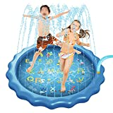ZXYY Juego de Alfombrilla Juego Agua para Rociar y Salpicaduras Juguetes Agua en Aerosol Verano Almohadilla de Rociador Inflable para Niños Fiesta Verano,A-150CM