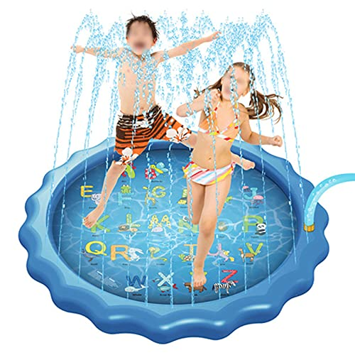 ZXYY Sprinkle And Splash Water Play Mat Set Summer Spray Water Toys Gonfiabile per Bambini Sprinkler Pad Summer for Kids Splash Party,A-170CM