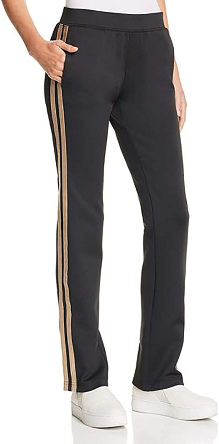 Pam & Gela  Women's H 18 Mixed Metal Side Stripe Pant  Black