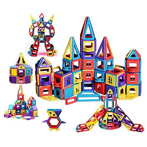 infinitoo 146tlg Magnetische Bausteine Magnetic Bauklötze Baukasten Kinder | Tolles Geschenk Lernspielzeug für Kinder ab 3 Jahre | Perfekt für den Einsatz zu Hause, in Schulen, Kindertagesstätten etc.