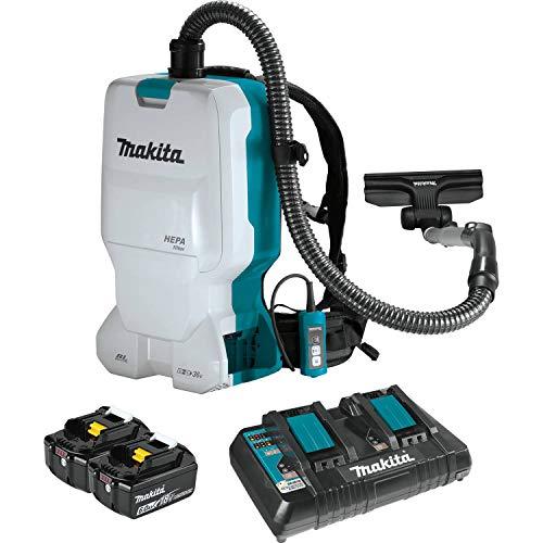 Makita XCV17PG 18V X2 LXT Lithium-Ion (36V) Brushless Cordless 1.6 Gallon HEPA Filter Backpack Dry Vacuum (6.0Ah)