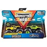 Monster Jam Offical Brodozer vs. Gas Monkey Die-Cast Monster Trucks, 1:64 Scale, 2 Pack