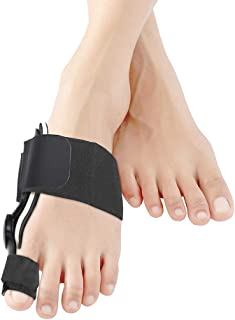 Bunion Corrector Splints Foot Care Corrector Thumb Brace for Tailors Bunion and Hallux Valgus Big Bone Orthotics Toe Separators - Black