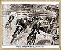 ポスター アーティスト不明 Women Track Cyclists 1898 額装品 ウッドベーシックフレーム(ナチュラル)