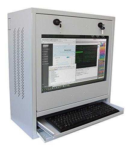 Techly Professional 104882 Armadio di Sicurezza per PC, Monitor LCD e Tastiera Grigio Grigio