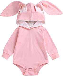 Baby Boys Girls Romper Long Sleeve Bunny Hoodies Top Bodysuit Jumpsuit Clothes Newborn One Piece Outfits