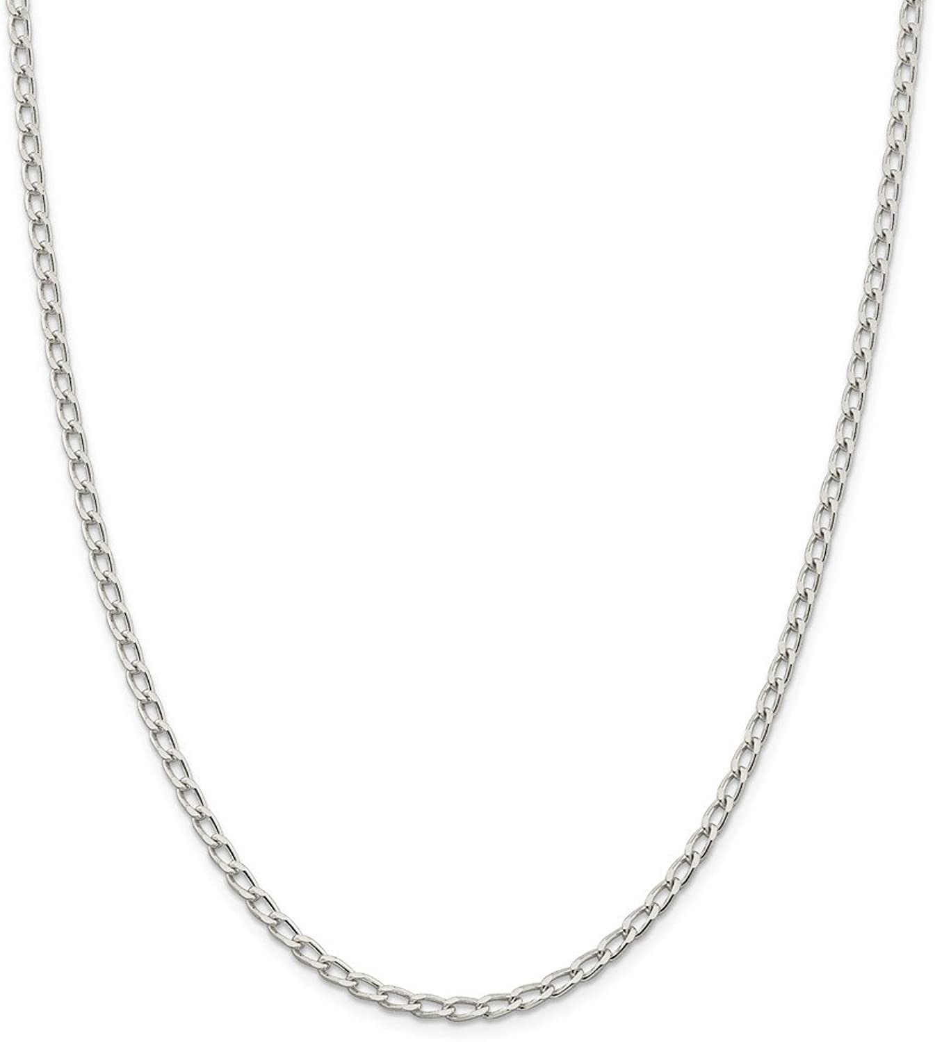 Beautiful Sterling silver 925 sterling Sterling Silver 3.2mm Open Link Chain