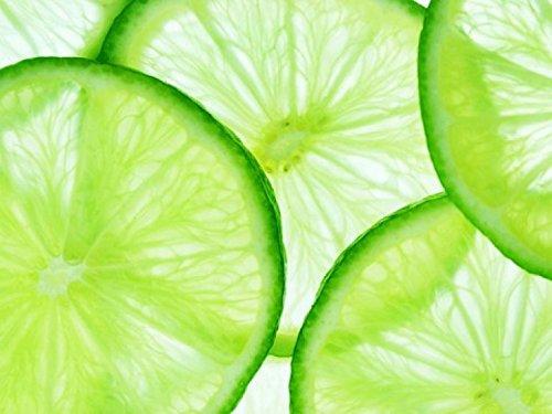 1art1 Früchte - Limetten-Scheiben, 4-Teilig Fototapete Poster-Tapete 360 x 255 cm