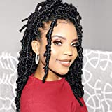 7 Packs Butterfly Locs Crochet Hair 12 Inch Pre-looped Bob Distressed Locs Soft Faux Locs Crochet Braids Butterfly Loc Twist Braiding Hair Synthetic Hair Extensions for Women (12Strands/Pack; 1B#)