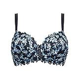 Sans Complexe Arum Mosaic Sujetador con Aros, Azul (Imprime Noir/Lac Bleu HAO), 85D (Talla del Fabricante: 85/100D) para Mujer