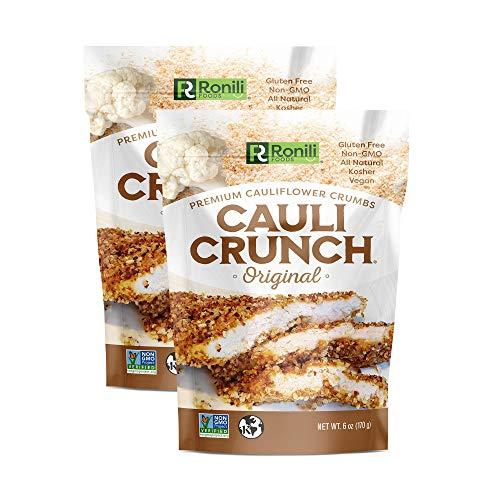 Cauli Crunch Plant Based Cauliflower Crumbs, 2-PACK (2x6 oz), Gluten Free, Non-GMO, Bread-Free Crumbs, Kosher (Original)