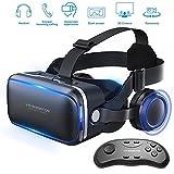 Gafas de realidad virtual 3D con auriculares para juegos de realidad...