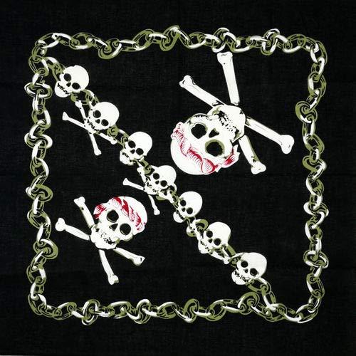 Yener Hip Hop katoen schedel Bandana vierkante sjaal hoofddoek zwarte fiets hoofdband bedrukt, lichtgeel