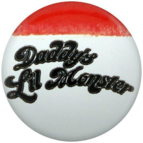 'Lil mostro di papà' 25mm Suicide Squad Pin Badge Badge ufficiali