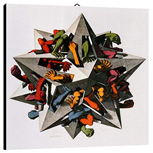 Quadro Escher cod. 60 cm 50x50 Stampa su Tela Canvas intelaiato Pronto da Appendere Vendita Falsi di Autore Il Negozio di Alex