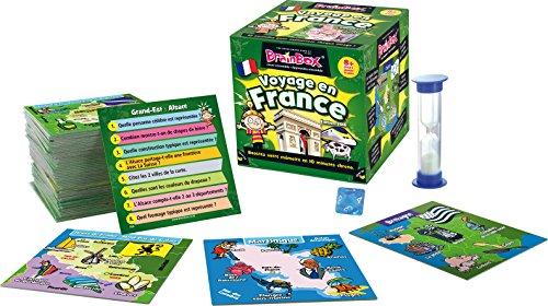 BrainBox : Voyage en France - Asmodee - Jeu de société - Jeu enfant - Jeu de mémoire - Jeu d'observation
