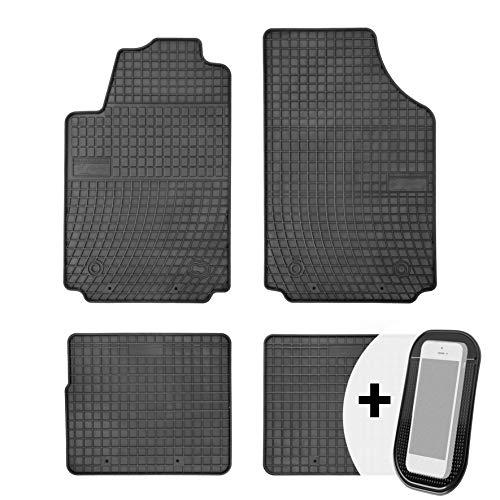 moto-MOLTICO Gummimatten Auto Fußmatten Gummi Automatten Passgenau 4-teilig Set - passend für Hyundai i20 2 2015-2019