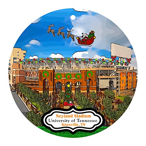 None-brands Christmas Xmas Decor 2020 Ornament Neyland Stadium at the University of Tennessee Xmas Ornament Decorated Whimsically for the Season - Football UT Knoxville - Vols Xmas 2020