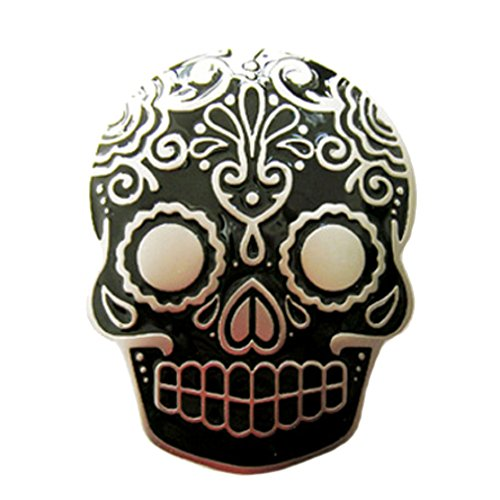 Piratenladen Boucle crâne, tatouage, tribal, noir, boucle de ceinture