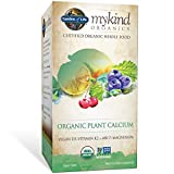 Garden of Life mykind Organic Plant Calcium - Vegan Whole Food Supplement with D3 and K2, Gluten Free, 180 Tablets - Packaging May Vary