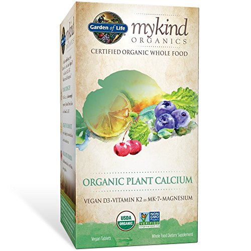 Garden of Life mykind Organic Plant Calcium - Vegan Whole Food Supplement with D3 and K2, Gluten Free, 180 Tablets