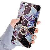 Robinsoni Cover Compatibile con iPhone 6S Cover con Anello Bling Cristallo Strass Bumper C...