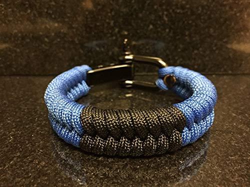 Brazilian Jiu Jitsu Blue Belt Rank Paracord Bracelet.