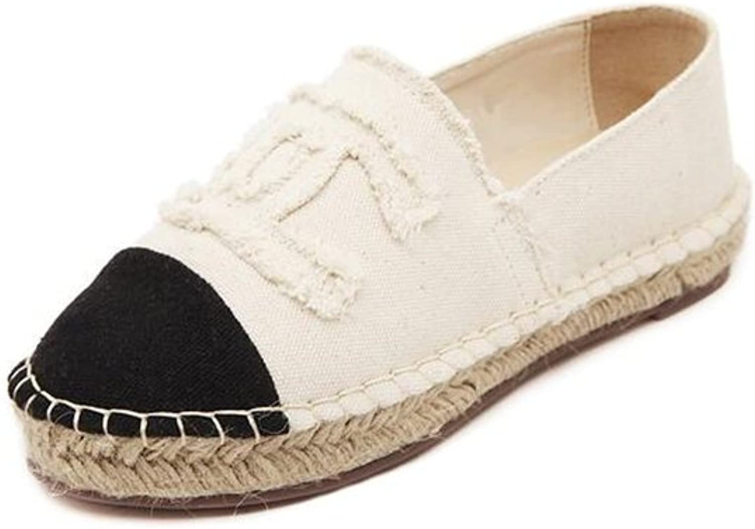 Slip-On Round Toe Fashion Women Luxury Flats shoes Canvas Espadrilles Casual Ladies Loafers