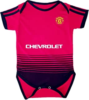 Manchester United Infant Cotton Soccer Bodysuits Infant OneSize Red
