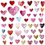 OOTSR Vinilo de Pared Corazón (48 Calcomanías), Vinilos Decorativos Habitación, pegatinas de pared para dormitorio de niña o dormitorio infantil