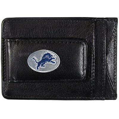 NFL Detroit Lions Leather Money Clip Cardholder
