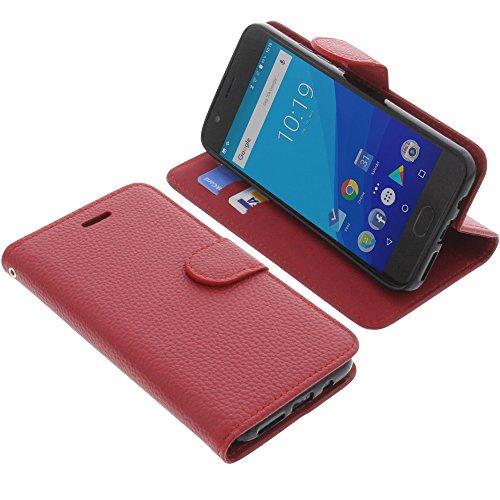 foto-kontor Tasche für UMIDIGI C2 Book Style rot Schutz Hülle Buch