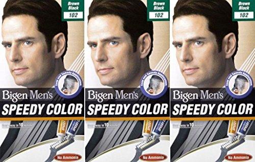 Bigen - Herren-Speedy - Haarfarbe - 102 Braun, Schwarz, 6 Packungen