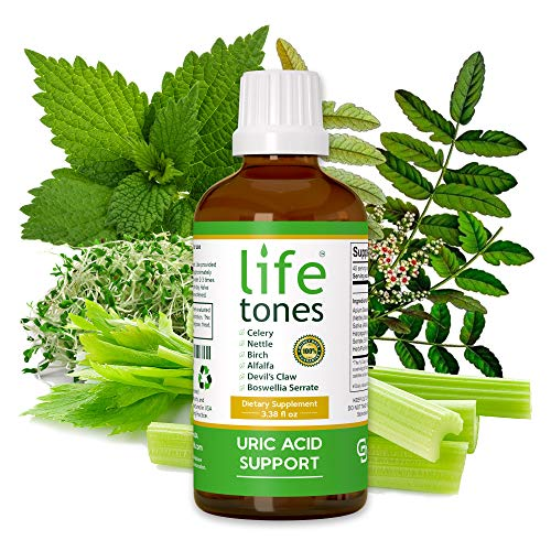 Lifetones Uric Acid Support - Liquid Uric Acid Cleanse for Highest Bioavailability - Herbal Cleanse Detox for Joint Comfort, Muscle Pain Relief, and Kidney Support - Non-GMO, Gluten Free - 3.38 fl oz