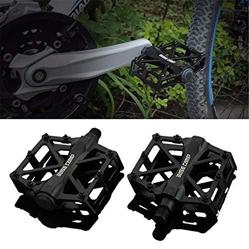 ddmlj Pedales De Aleación De Aluminio Antideslizantes Cómodos Pedales De Bicicleta-Negro