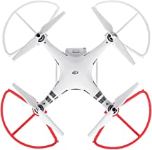 Premium Quality Snap On/off 4pcs Prop Guards for DJI Phantom 3 Standard, Advanced and Professional Tool-Free Quick Release Disconnect Propeller Protector DJI Phantom 3 Prop Guards - White & Red