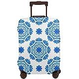 DJNGN Funda de equipaje de viaje de color azul Marruecos, protector de maleta de viaje, funda de maleta antirrayas para equipaje de 18 a 28 pulgadas