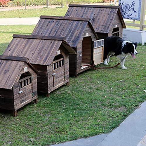 Caseta Perros Exterior, Casa para Perros Exterior, Caseta de Jardín para Perro Grande/ Mediana/Pequeña, Impermeable Casa Perro Caseta Perros...