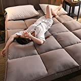 <span class='highlight'><span class='highlight'>WZF</span></span> Futon soft folding mattress comfortable Tatami mattress Thick mattress cushion for floor in camping dormitory (Color: gray Dimensions: 200x220 cm (79x87 inches))