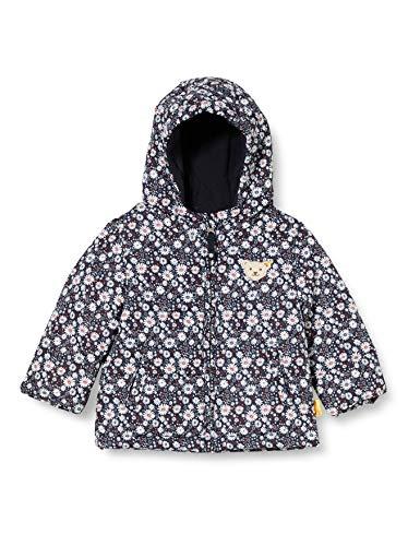 Steiff Baby-Mädchen Jacke und Blütenmotiven Schwarz, (BLACK IRIS 3032) , 80